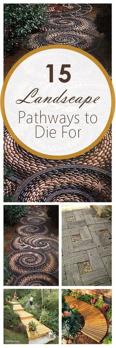 15 DIY Landscape Pathways to Die For ~ Bees and Roses Gardening, home garden, garden hacks, garden t Gardening For Beginners, Gardening Tips, Vegetable Gardening, Organic Gardening, Outdoor Projects, Garden Projects, Diy Projects, Garden Paths, Garden Landscaping