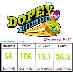 Dopey Challenge 2015! Who else is IN for 48.6 MAGICAL miles?!