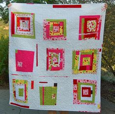 "A's Birthday quilt- ""pass the cherries please"" by bloomingpoppies, via Flickr"