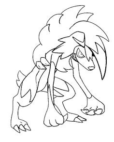 Lycanroc forma nocturna Pokemon Coloring Sheets, Pikachu Coloring Page, Ninjago Coloring Pages, Free Halloween Coloring Pages, Moon Coloring Pages, Cartoon Coloring Pages, Coloring Pages To Print, Coloring Pages For Kids, Pokemon Images