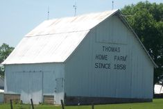 "Thomas Barn ~ Thomas Home Farm 1858"" is one of VBC Century farms. West of Keosauqua, IA"