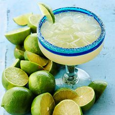 Who can resist a classic margarita? Get 13 of our favorite margarita recipes here. I can't resist - I LOVE me a margarita! Party Food And Drinks, Fun Drinks, Yummy Drinks, Cocktail Drinks, Wine Cocktails, Classic Cocktails, Drink Wine, Cocktail Recipes, Yummy Food