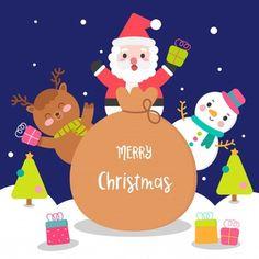 Vivid8 | Freepik Christmas Raindeer, Christmas Sled, Christmas Balls, Christmas Humor, Christmas Themes, Christmas Ornaments, Christmas Cartoon Characters, Christmas Cartoons, Unicorn Wallpaper Cute