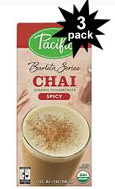 Barista Series Organic SPICY CHAI LATTE Concentrate 32oz 3 Pack ** BEST VALUE BUY on Amazon