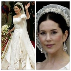Crown Princess Mary of Denmark on her Wedding Day