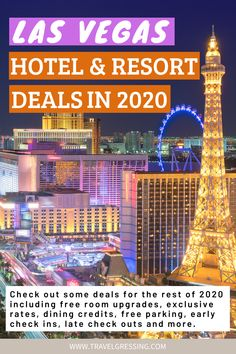 Check out some deals for the rest of 2020 including free room upgrades, exclusive rates, dining credits, free parking, early check in, late check out and more.  #LasVegas | Las Vegas | Las Vegas Travel | Las Vegas Things To Do | Las Vegas Vacation | Las Vegas Weekend | What to do in Las Vegas | Las Vegas Attractions | Nevada | USA