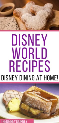 Disney Dishes, Disney Desserts, Disney Recipes, Disney Cute, Disney Inspired Food, Baking Recipes, Dessert Recipes, Good Food, Yummy Food