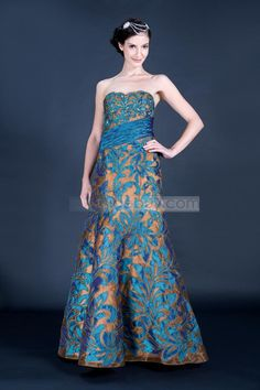 US$311.99 UniqueTrumpet Floor-Length Strapless PromUniqueTrumpetEvening Dress . #2013 #Prom #Floor-Length #Strapless