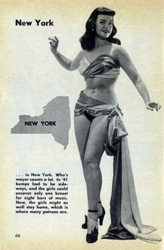 New York Guide for Strip-Teasers, Bettie Paige, 1953