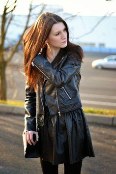 Leather Skirt, Leather Jacket, Skirt Fashion, Zara, Skirts, Jackets, Profile, Trends, Outfits