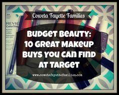 Budget makeup, makeup you can buy at Target, makeup on a budget