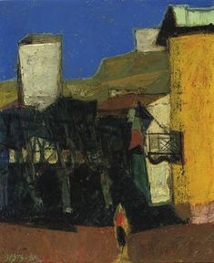 WIM OEPTS: A village square in summer