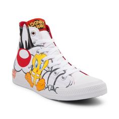 Converse Chuck Taylor All Star Hi Looney Tunes Sylvester Tweety Sneaker -  White - 399470 a5b02abdb419f