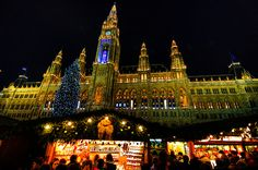 Vienna - Christkindlmarkt in Rathausplat