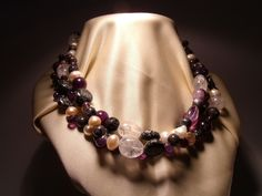 Necklace with freshwater pearls #necklace #freshwaterpearls