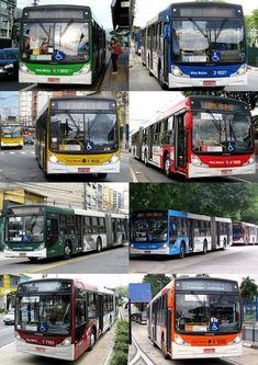 Ônibus articulados de São Paulo SP Brasil
