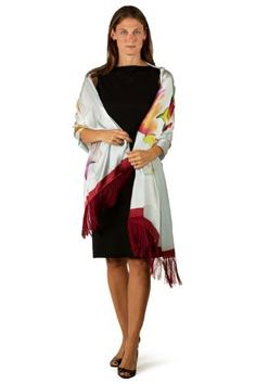 """Silk Evening Shawl for Women - Summer Silhouette - Shawls and Wraps for Evening Gowns Elegant Formal Dress Scarves Shawls Tassels Fringe Scarf Mothers Day Gifts Presents Gift Ideas Women Her Wife Mom Mother from Daughter Son Something Special Me Mom Birthday Gifts Women Her Presents Gift Ideas Wife TexereSilk. $59.00. Hand Painted Art & Hand Rolled Edges; Environmental & """"Green"""" Dyes (Free of Lead and Azobenzenes). Original Artwork by Barbara Nechis. Hand Wash or Dry Clean; Im..."""