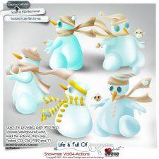 Snowman Vol04-Actions #CUdigitals cudigitals.comcu commercialdigitalscrapscrapbookgraphics #digiscrap