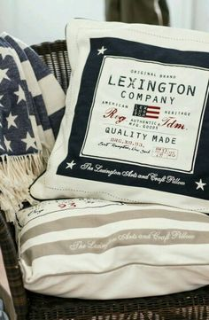 Shams from Lexington Company Spring 2015 Collection. Lexington Company, Lexington Home, Coastal Style, Coastal Living, Big Pillows, New England Style, Nighty Night, Fashion Room, Boy Room