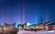 Pillars of Light - Halo phenomenon is Kempele
