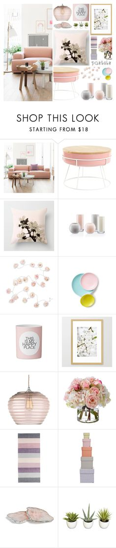"""living room _ pastels"" by by-jwp on Polyvore featuring interior, interiors, interior design, home, home decor, interior decorating, Muuto, Kate Spade, Talking Tables and Heathfield & Co."