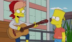 Mary singing a song she wrote for Bart.