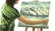 Malování na mokré plátno - hory - Jana Laštovičková Grygarová