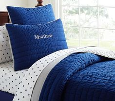 Branson Reversible Quilted Bedding | Pottery Barn Kids