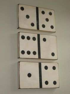 DIY:  Large Vintage Looking Dominoes ~ Step by step tutorial on making these fun dominoes from a 2 x 10 piece of wood!