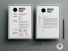 CV template , cover letter template by Chic templates on Creative Market