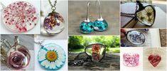 Aprende cómo encapsular flores deshidratadas y hacer joyería ~ Haz Manualidades Washer Necklace, Pendant Necklace, Crafts, Jewelry, Hobbies, Club, Alphabet, Resin Jewelry, Epoxy