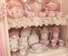 ღ Don't question the fire that burns inside ღ Aesthetic Rooms, Pink Aesthetic, Princess Aesthetic, Everything Pink, Pastel Pink, My Favorite Color, Decoration, My Room, Tea Set