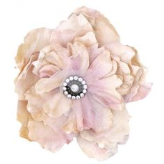 The Miss Rose Sister Violet Cabbage Rose Diamante Clip is very elegant and large, sets with a diamante button and a long clip at the back. This beauty can be attached just about anywhere, simply as clothes accessory or even clipped onto a fabric in your little girl's bedroom for a stunning vintage look.