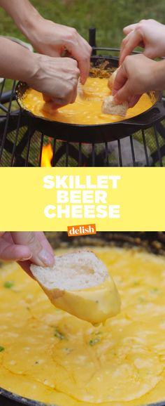 This Skillet Beer Cheese is so addicting, all you need is a spoon. Get the recipe from Delish.com.