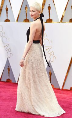Michelle Williams in Louis Vuitton - click through for more better-from-the-back Oscars dresses