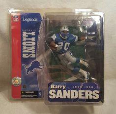 McFarlane Sports  Detroit Lions RB Barry Sanders NFL Legends Series 1 Figure New #McFarlaneToys