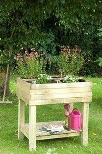 Verhoogde moestuintafel moestuinbak mini moestuin vilmorin tuinieren pinterest - Canvas tuin leroy merlin ...