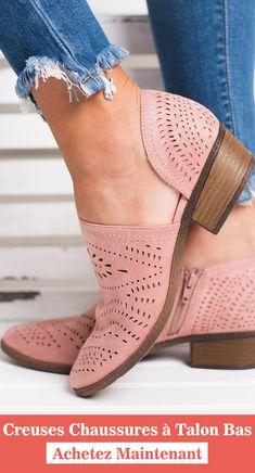 Creuses chaussures à talon bas Chaussures À Talons Bas 034036c923a