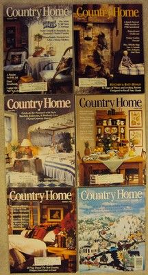 Country Home Magazine 1992 6 Issues Full Year Country Home Magazine, House And Home Magazine