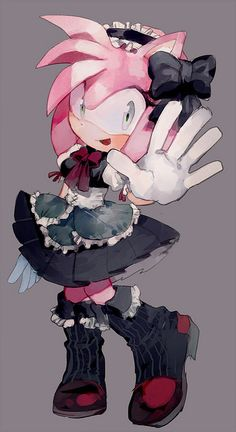Amy as an Ita. (Ita is a badly dressed lolita) Seems appropriate.