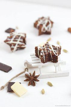 Weihnachtliche Schoko Brownie Sterne nach einem Rezept von Sweets and Lifestyle