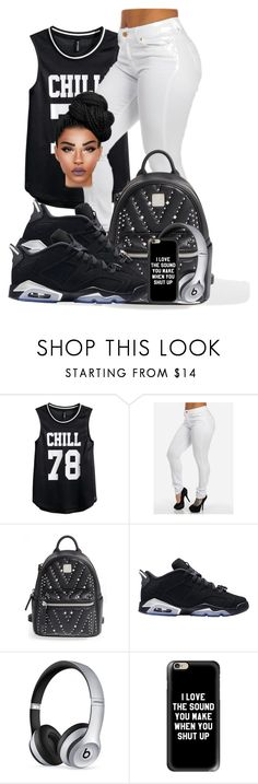 """""""chrome6s*(low)♡♡♡"""" by ballislife ❤ liked on Polyvore featuring H&M, MCM, Retrò, Beats by Dr. Dre and Casetify"""