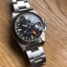 Watches Ideas Rolex Explorer 2 1655 Discovred by : Todd Snyder Rolex Submariner Black, Rolex Datejust, Vintage Rolex, Vintage Watches, Cool Watches, Watches For Men, Rolex Explorer Ii, Rolex Cellini, Rolex Tudor