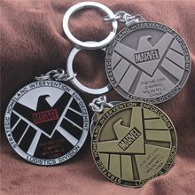 2015 Time-limited Canada Coins The Marvel Avengers Surrounding Shield Aegis Bureau Agents Keychain Pendant Jewelry Wholesale //Price: $US $3.31 & FREE Shipping //    #marvel