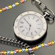 ad92e813664 relógio de bolso liso em aço inoxidável