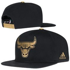 bbe47622c45 Mens Chicago Bulls adidas Black Precious Metals Adjustable Snapback Hat. Nba  ...