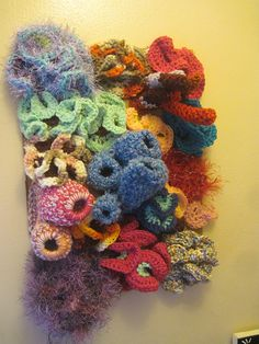 Crochet Wall Coral Reef