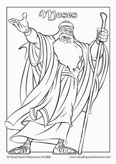 Moses Coloring Pages Free Printables Pinterest Red