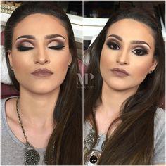 """""""Hoje vamos de Cut Crease Alá MiPalma Com muito marrom e um delineado mega lindo ❤️❤️ Eu Ameiii achei sofisticado e no olho dessa modelo encaixou…"""""""