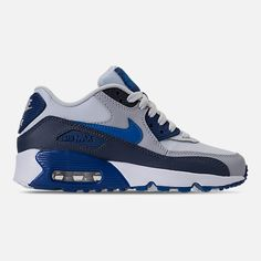Right view of Kids' Grade School Nike Air Max 90 Leather Running Shoes Retro Jordans 11, Nike Air Jordans, Nike Air Max, Nike Basketball Shoes, Air Max 90 Leather, Sneaker Boots, Shoes Sneakers, Nike Classic Cortez, Sports